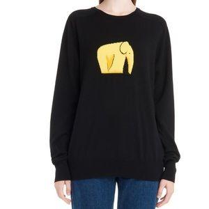 📌 Loewe Jacquard Iconic Elephant Knit Sweater